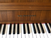Piano Seiler Merisier satine d'occasion